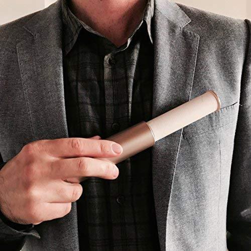 Flint Retractable Lint Roller, Refillable, 30 Sheets, Pink