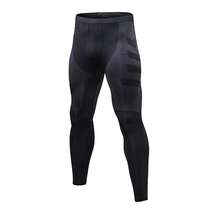 VPASS Pantalones para Hombre,Chándal de Hombres Deportivos Transpiración de Secado rápido Elásticos Pants Jogging Pantalon Fitness Gym Slim Fit Largos ...