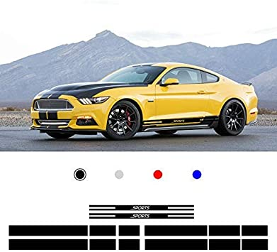 Car Hood Vinyl Stripe Fits Mustang /& Other Cars Rally Sport Decal Vinyl Sticker
