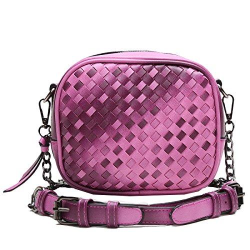 Bolsos Yy.f Nuevo Paquete Bolso Casual Retro Paquete Móvil Del Mensajero De Tejido Moda Dama De La Moda Bolsa De La Cadena Del Color Del Bolso 2 Grey