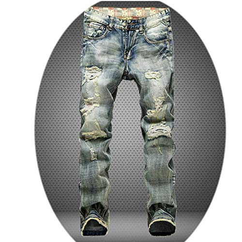 spyman 2019 Men Holes Jeans European High Street Motorcycle Biker Jeans Men Hip Hop Ripped Slim Jeans Pants Dropshipping,953,38 (Best Street Motorcycle For Beginners)