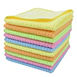 Sinland Microfiber Dish Cloth Kitchen Cloths Cleaning Cloths With Poly Scour Side 12''x12'' 10 Pack wholesale 5 color assorted