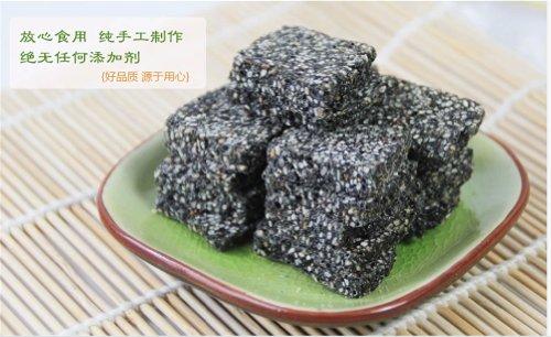 Qyz@ Chinese Snack Food Yejiajia Black Sesame Seed Candy Handmade Cakes(235g*3)