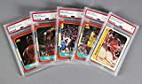 1986-86 Fleer Basketball Card Lot (5) PSA Graded – Michael Jordan, Olajuwon MINT 9 etc. – PSA