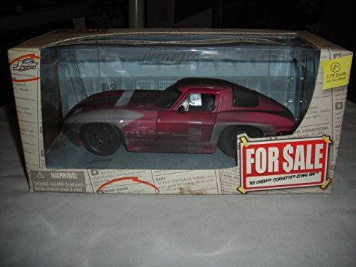 JADA FOR SALE '63 CHEVROLET CHEVY CORVETTE STING RAY 1:24 DIECAST