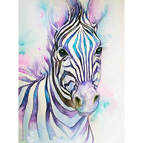 5d Diamond Painting Kits for Adults Kids,Full Diamond Embroidery Rhinestone Cross Stitch Arts Craft Purple Zebra 11.8x15.7in 1 Pack by Lighting S Direct (Words Their Way Within Word Pattern Activities)