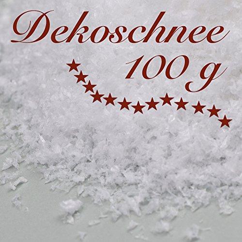 Dekoschnee / Kunstschnee 100 g - Die Winterlandschaft aus dem Beutel. Verzaubern Sie sich und Ihre Lieben diesen Winter und zu Weihnachten. Winter-Dekoration - von Cedar Tree