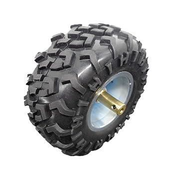 Almencla Rueda de Goma de 130 mm para Coche Inteligente Neumático Robot Neumáticos - Azul: Amazon.es: Jardín