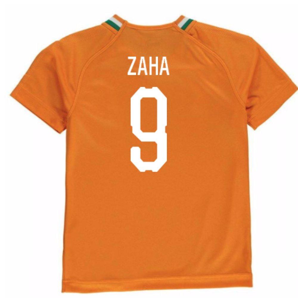 2018-19 Ivory Coast Home Football Soccer T-Shirt Trikot (Wilfried Zaha 9) - Kids