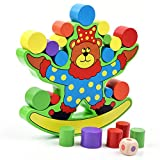 Naovio Wooden Blocks Balance Toy Kids Bear Balance Beam Stacking Balancing Game Smart Toy Family Party Game Educational Toys