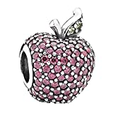 Pandora 791485cfr Red Pave Apple Charm