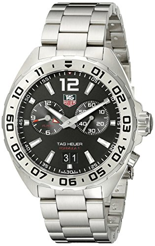 TAG Heuer Mens WAZ111A.BA0875 Formula 1 Analog Display Swiss Quartz Silver Watch