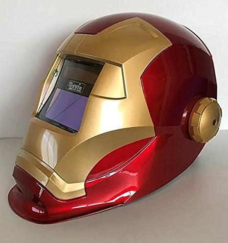 Cevik Ironweld - Pantalla electrónica para soldadura tipo casco. Regulable: Amazon.es: Bricolaje y herramientas