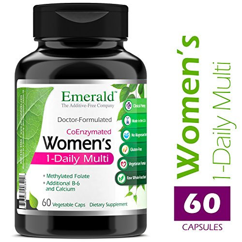 Emerald Laboratories - Women's Multi Vit-A-Min (1-Daily) - Complete Daily with CoEnzymes + Extra Vitamin B6 & Calcium - 60 Vegetable (B-complete Vitamins)