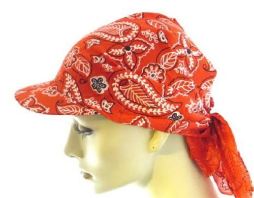 Visor Bandana by Helen's Hats (Red)