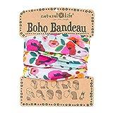 Natural Life Women's Boho Bandeau, Pink Floral Polka Dot