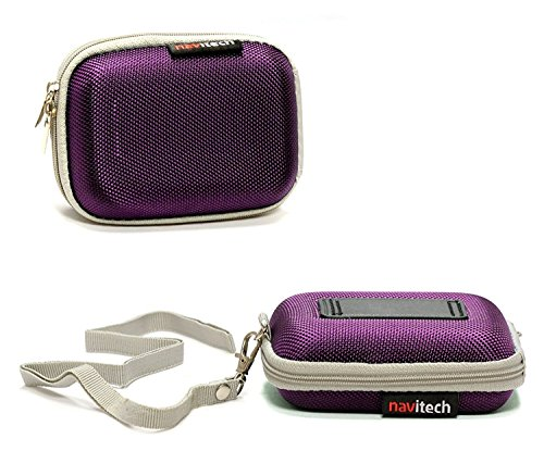 Navitech Purple Hard Protective Earphone/Headphone Case Compatible with The Sennheiser MX 686G Sports