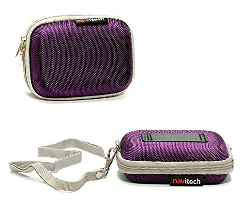 purple hard protective earphone headphone