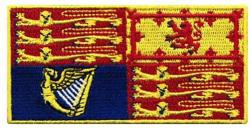 QUEEN ELIZABETH II FLAG PATCH iron-on ROYAL STANDARD BRITISH