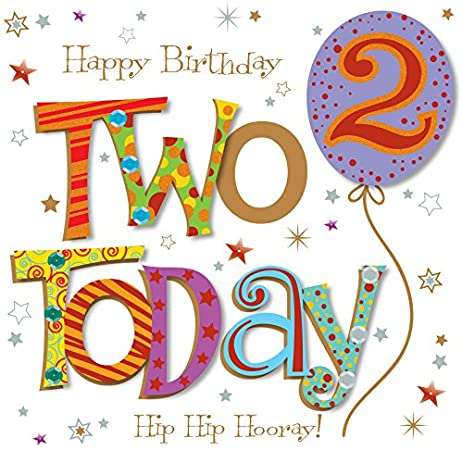 Amazon two today 2nd birthday greeting card by talking two today 2nd birthday greeting card by talking pictures greetings cards m4hsunfo