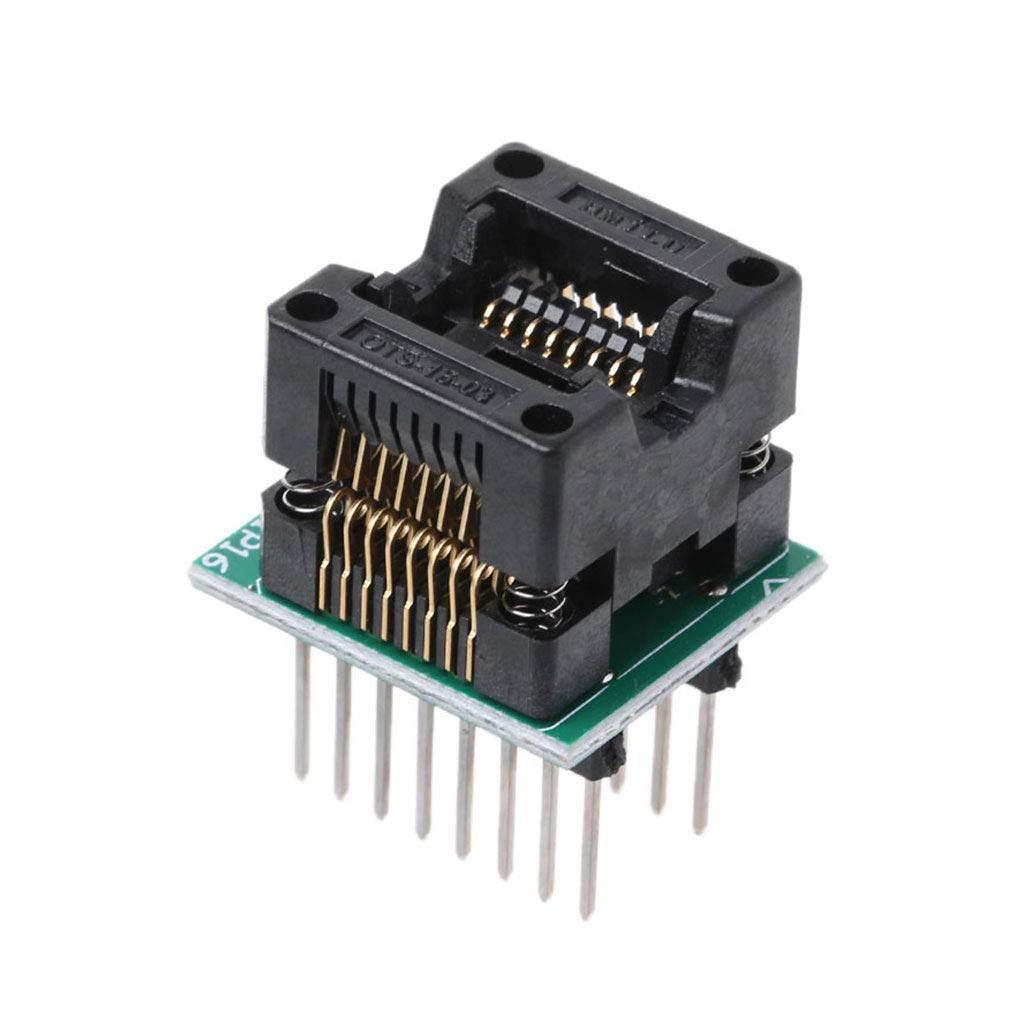 Remo-Y SOP16 A DIP16 Z/ócalo IC SOP16 Girar DIP16 Programador Adaptador 150mil Escribir componentes electr/ónicos