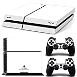 FriendlyTomato PS4 Console and DualShock 4 Controller Skin Set – White Color – PlayStation 4 Vinyl Colour