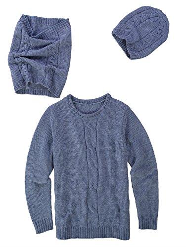 Dress In Damen 3tlg. Set Bestehend aus Pullover, Mütze und Loop Wärmend 50 by