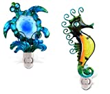 Puzzled Night Light Sea Turtle and Sea Horse