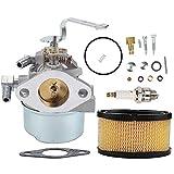 Coolwind 640152 Carburetor + 33268 Air Filter+ Spark Plug fit Tecumseh 640152A 640023 640051 640140 640152 HM80 HM90 HM100 8-10 HP Engine Snow Blower Mower 5000w Generator