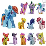 Kool KiDz Set of 12 Pony PVC Toy Cake Topper Twilight Sparkle Figure Set