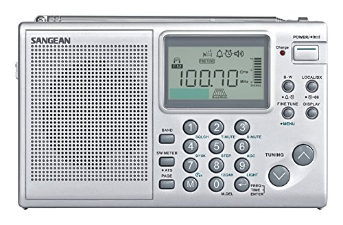 Sangean All in One AM/FM/SW Professional Digital Multi-Band World Receiver Radio with Large Easy to Read Backlit LCD Display by Sangean