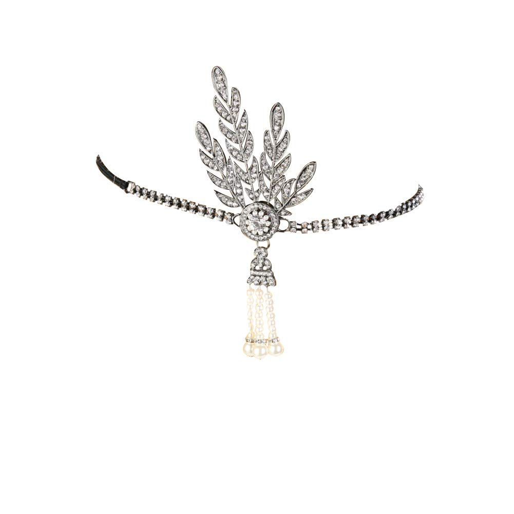 Fashion 1920/'s Gatsby Vintage Style Pearl tassels Charleston Bridal Headband