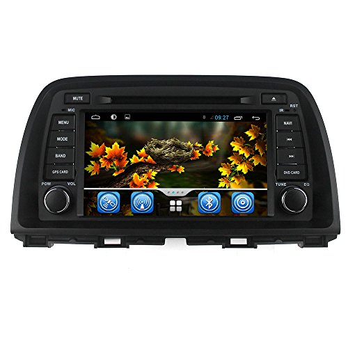 lsqSTAR Capacitive Android 4.4 Multimedia Stereo Navigation System Car GPS Navigation with LCD touch screen audio navigation system Radio Bluetooth RDS Steering wheel control car radio For 2014 Mazda 6 Support 3G / Wifi / OBD2 / TPMS / DVR / Mirror Link