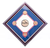 AUTHENTIC APPAREL MLB Atlanta Braves Commemorative Turner Field Infield Dirt Diamond Plaque with Solid Bronze Medallion Set