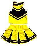 Little Girls' Cheerleader Cheerleading Outfit Uniform Costume Cosplay Halloween Yellow/Black (S / 2-5)