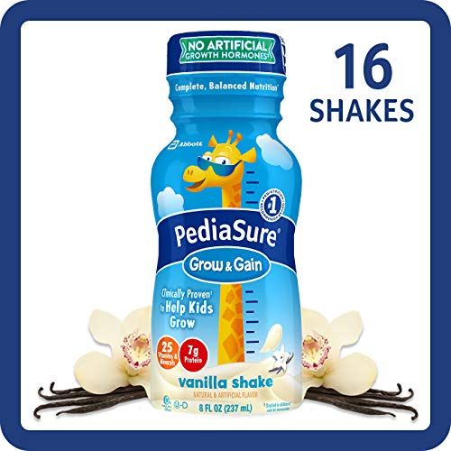 PediaSure Grow & Gain Nutrition Shake For Kids, Vanilla, 8 fl oz (Pack of ()