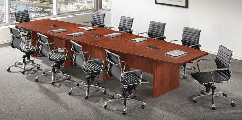 Office Source 28' Boat Shaped Conference Table