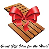 Wood Block Crafts - Rustic Cedar Wood Mini Pallet Trivet or Coaster - Stained and Sealed - Rubber Feet - 10 Inches Square - Set of Two - Protects Your Tables and Counters From Heat and Moisture Damage