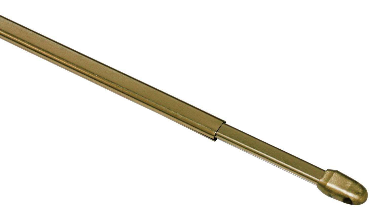 40-65 cm M/étal//Plastique Gardinia Barre de Vitrage Extensible Embouts dExtr/émit/é en Plastique et Crochets /à Vis Inclus Mates Argent/és