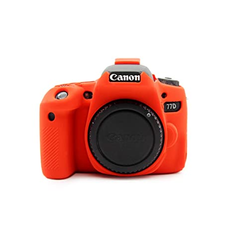 kinokoo cámara cubierta funda de silicona para Canon 77d: Amazon ...