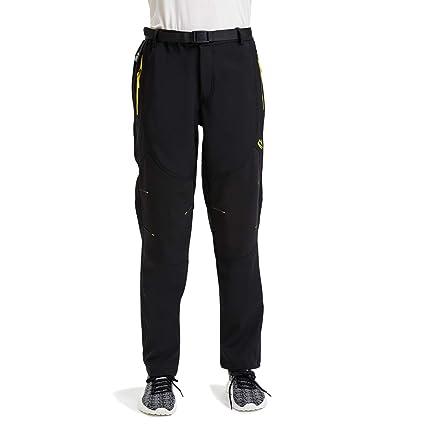 d19553b5768 Womens Outdoor Windproof Hiking Pants Waterproof Softshell Fleece Snow Ski  Pants Active XS