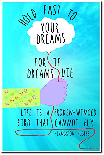 Hold Fast To Your Dreams - Langston Hughes - NEW Classroom Motivational Poster