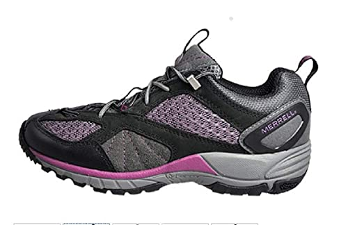 Merrell - Zapatillas de senderismo para mujer negro negro: Amazon.es: Zapatos y complementos