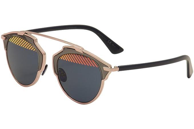 Christian Dior Damen Sonnenbrille Diorsoreal Nu, Schwarz (Pink Blue Vup), 48
