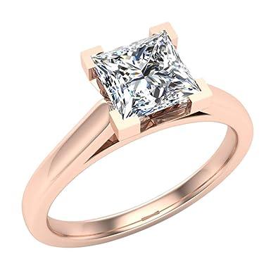 White Diamond Engagement Bridal Set 2.33 Ct Princess Diamond Handmade !! Jewelry & Watches Fine Jewelry