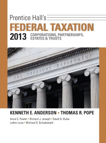 Prentice Hall's Federal Taxation 2013 + New Myaccountinglab With Pearson eText: Corporations, Partnerships, Estates &
