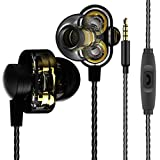 3.5mm Wired HiFi In-Ear Earphones Dual Driver Bass Turbo Wide Sound Gaming MP3 Headset