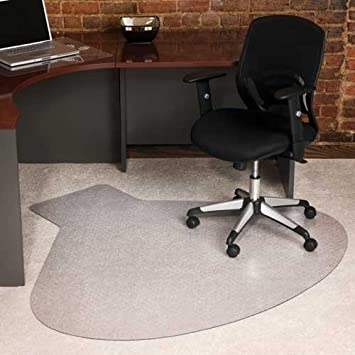 E S Robbins EverLife Collection Workstation Shaped Chair Mat   66u0026quot; X  60u0026quot;, ...