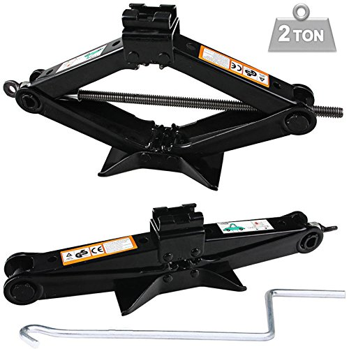 Autofu 2 Ton Scissor Floor Jack for Car/Travel Trailer/Truck/SUV/UTV with Speed Handle Floor Jack Steel