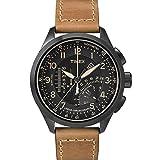 Timex Intelligent Quartz T2P277 Mens Black Tan Linear Chronograph Watch